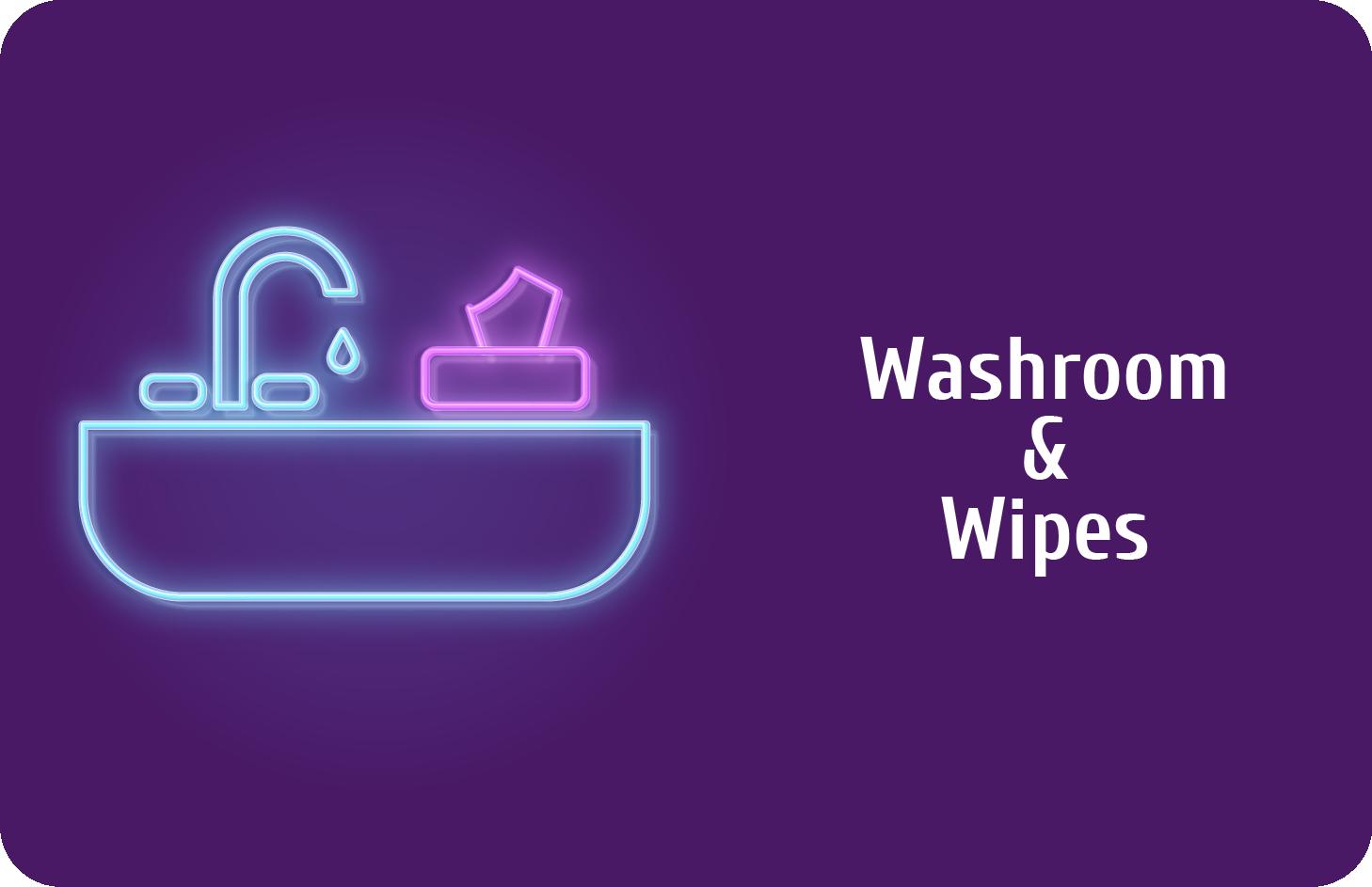 Waschraum und Wischtücher